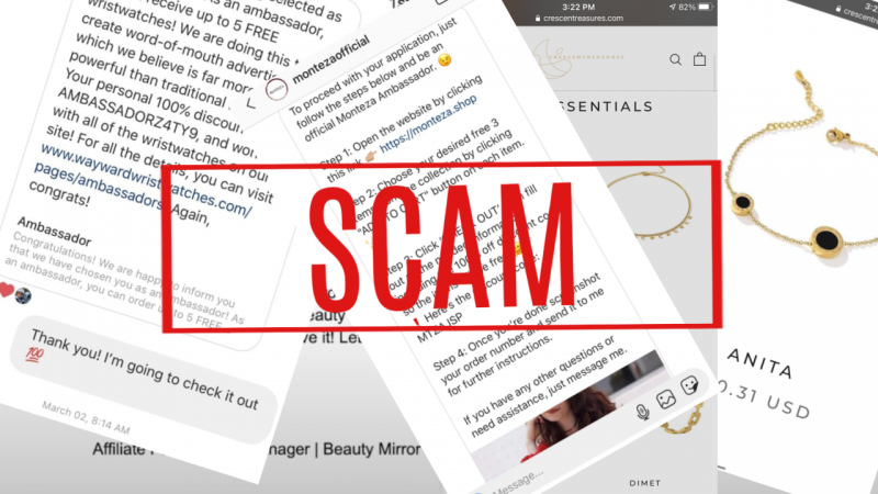 Instagram Brand Ambassador SCAMS To Look Out For